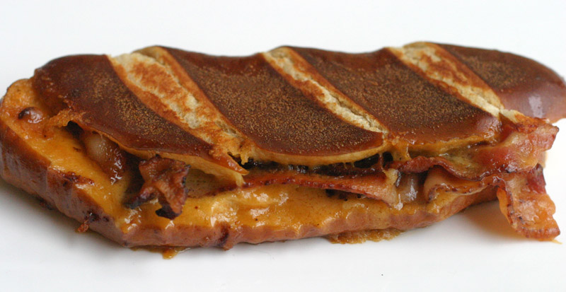 Beer Cheese, Bacon Grilled & Pretzel Bun Grilled Cheese Sandwich ...